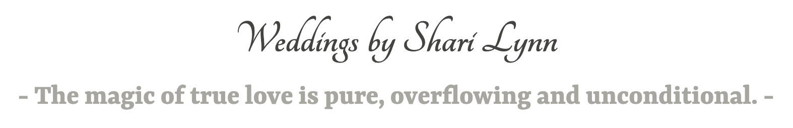 Wedding Officiant | Ordained Minister | Marriage Officiant | Weddings by Shari